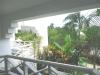 vista giardino dalla terrazza dell'appartamento residence sosua