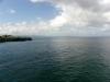 Zicht op de baai van Rio San Juan