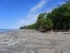 Zicht op strand