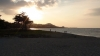 Zonsondrgang op strand