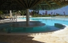 Zithoek in zwembad