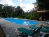 Woning met zicht op zwembad
