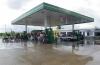 Zicht benzinestation richting centrum